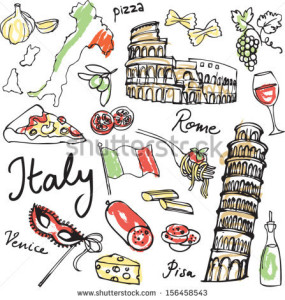 stock-vector-set-of-italy-icons-vector-illustration-156458543